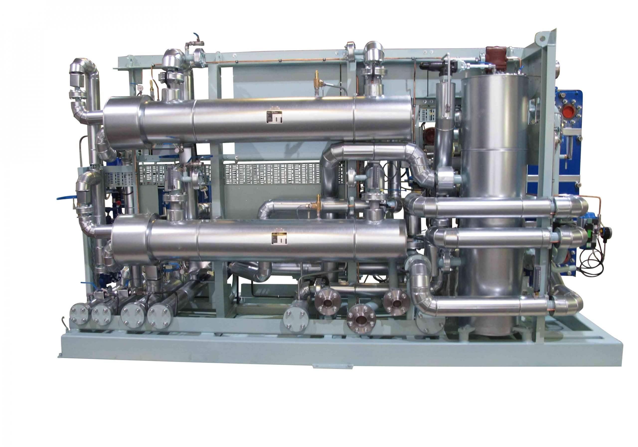 Heat exchanger tube steam